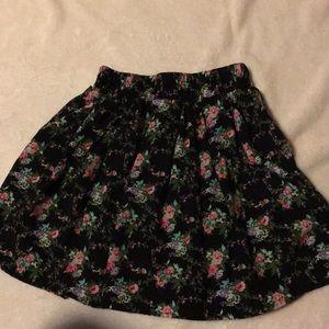 Black Flower Skirt
